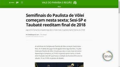 Taubaté inicia disputa da semi do Paulista no sábado - Adversário será o Sesi-SP.