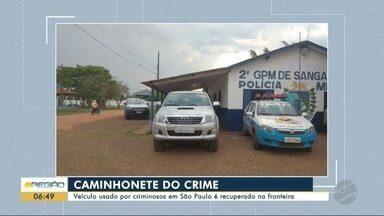 Caminhonete usada por criminosos de SP é encontrada na fronteira - Veículo foi perseguido e motorista de 24 anos preso.
