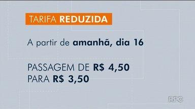 Começa a tarifa reduzida em Curitiba - A passagem de R$3,50 só vale pra 6 linhas fora do horário de pico