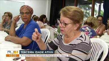 Terceira idade ativa: idosos participam de atividades em Três Rios - Segundo o IBGE, 12% da população do município são pessoas acima de 60 anos.