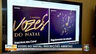 Evento da TV Fronteira reúne corais para apresentações natalinas - Inscrições para grupos de todo o Oeste Paulista estão abertas até o dia 5 de novembro.