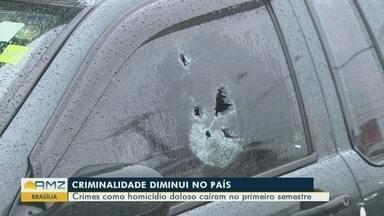 Ministério da justiça diz que criminalidade diminuiu no país - Crimes como homicídio doloso caíram no primeiro semestre.