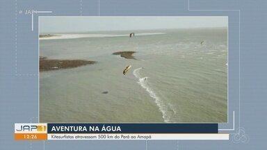 Kitesurfistas encaram travessia de 500 quilômetros entre Amapá e Pará - Aventura na água marcou a vida dos esportistas.