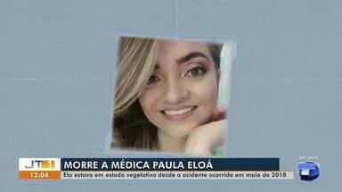 Médica que estava em estado vegetativo por acidente em 2018 morre no HRBA - Paula Eloá sofreu um acidente de transito em maio de 2018.
