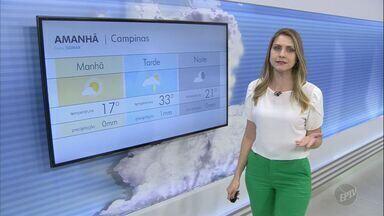 Confira a previsão do tempo para a região de Campinas nesta quarta-feira (16) - Tempo instável cria chances de chuva e faz altas temperaturas serem registradas nas cidades. Máximas chegam a 35º C.