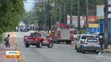 Explosão em empresa de gás causa pânico na zona Sul de Boa Vista - Três explosões foram registradas dentro de uma empresa que comercializa gases oxigênio e acetileno.