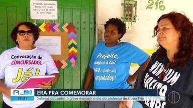 Salários atrasados e greve marcam o Dia do Professor de Cabo Frio - Categoria não tem muito a comemorar.