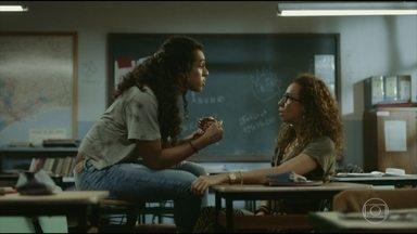 Eliete confisca navalha de Natasha - Marido de Solange aparece na escola e Lúcia conta que não deixou o bebê na delegacia