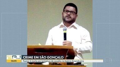 Pastor é assassinado durante tentativa de assalto em São Gonçalo - O pastor Nei Badini foi assassinado durante uma tentativa de assalto no bairro Amendoeira, em São Gonçalo. O suspeito do crime é um menor de idade que foi apreendido.