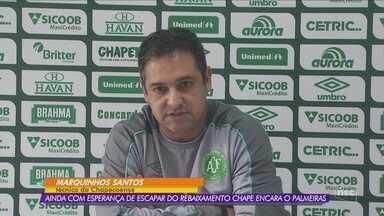 Na lanterna, Chape pega o Palmeiras em São Paulo - Na lanterna, Chape pega o Palmeiras em São Paulo