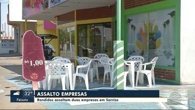 Criminosos invadem e assaltam sorveteria em Sorriso - Criminosos invadem e assaltam sorveteria em Sorriso