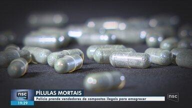 Dois suspeitos de vender falsos emagrecedores são presos em Lages - Dois suspeitos de vender falsos emagrecedores são presos em Lages