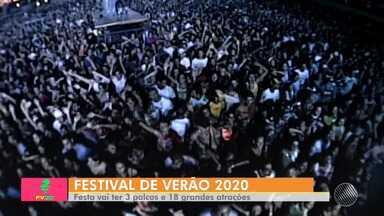 Festival de Verão 2020: edição do ano que vem tem mudanças especiais - Confira também a grade de atrações da festa.