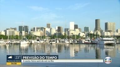 Sexta-feira (18) deve ser de sol no Rio de Janeiro - A temperatura máxima prevista é de 36 ºC. Pode ter chuva isolada em alguns pontos do estado no fim do dia.