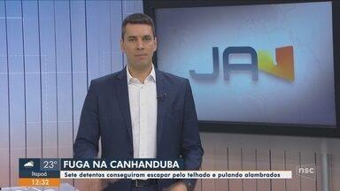 Sete presos fogem do Complexo Penitenciário de Itajaí - Sete presos fogem do Complexo Penitenciário de Itajaí