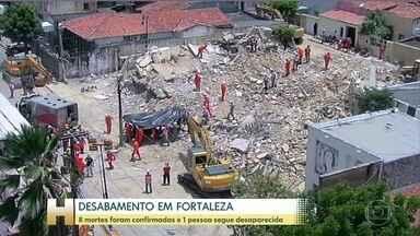 Bombeiros resgatam mais um corpo dos escombros do prédio que desabou em Fortaleza - Já são oito mortes confirmadas. Uma pessoa ainda é considerada desaparecida.