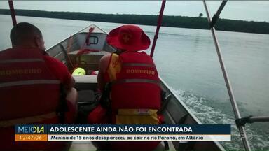 Seguem as buscas por adolescente que caiu de moto aquática em Altônia - Ela estava na garupa quando o acidente aconteceu.