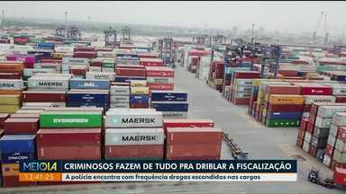 Fiscalização contra o tráfico de drogas no porto de Paranaguá é reforçada com tecnologia - Criminosos tentam usar o porto para enviar drogas para outros países.