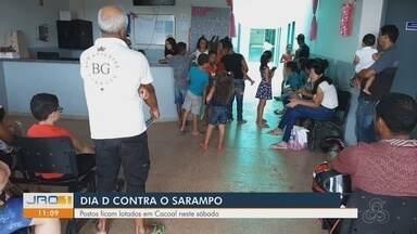Dia D contra sarampo: confira a movimentação nos postos de saúde de RO - Em Porto Velho foi a baixa a procura por imunização.