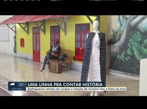 Estilista retrata nas roupas a relação do mineiro com a linha do trem - Estilista é natural de Ipatinga.