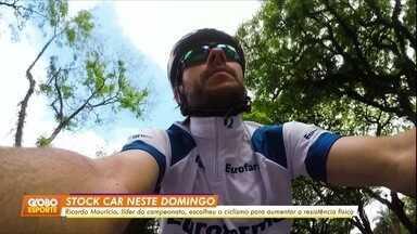 Ricardo Maurício, líder da Stock Car, usa bike para ganhar resistência física - Ricardo Maurício, líder da Stock Car, usa bike para ganhar resistência física
