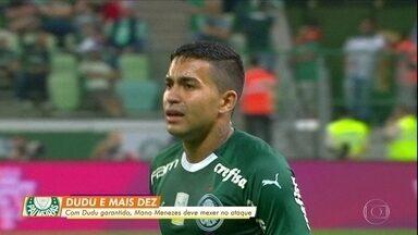 Mano deve mexer no ataque do Palmeiras para partida contra o Athletico - Mano deve mexer no ataque do Palmeiras para partida contra o Athletico