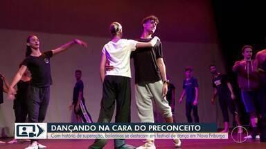 Com histórias de superação, bailarinos se destacam em festival de dança em Nova Friburgo - Assista a seguir.