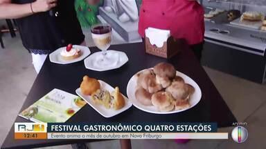 Festival Gastronômico Quatro Estações movimenta Nova Friburgo - Assista a seguir.