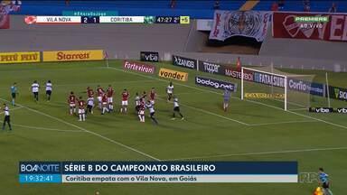 Coritiba empata com o Vila Nova - Placar ficou em 2X2.