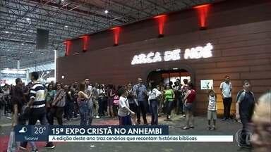 Expo cristã agita a Zona Norte - Evento, no Anhembi, traz cenários que recontam histórias bíblicas.