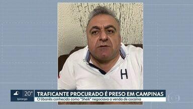 """Traficante libanês conhecido como """"Sheik"""" é preso em Campinas - Polícia Federal vai pedir o compartilhamento das informações levantadas pela Polícia Ciil porque supeita que o traficante também comandava parte do envio de cocaína do Brasil para a Europa."""