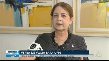 Reitora fala sobre liberação de verba para UFPB - Governo Federal anunciou liberação dos recursos bloqueados.