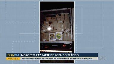 Rodovias do noroeste do Paraná são rotas do tráfico de drogas e contrabando - Batalhão de Fronteira e Polícia Rodoviária Federal aumentam a fiscalização para combater este tipo de crime.