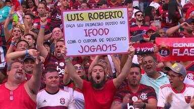 Luís Roberto ganha cupom de desconto do iFood durante transmissão de Flamengo x Palmeiras - Luís Roberto ganha cupom de desconto do iFood durante transmissão de Flamengo x Palmeiras