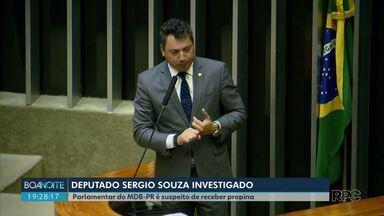 Deputado do Paraná é alvo de operação da Polícia Federal - Sérgio Souza, do MDB, é investigado por recebimento de propina para beneficiar suspeitos quando era relator da CPI dos fundos de pensão.