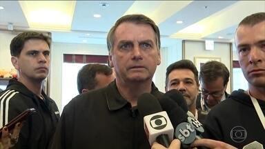 Bolsonaro comenta crise no PSL durante viagem ao Japão - Presidente pede tranquilidade para resolver crise e diz que filho Eduardo Bolsonaro é importante no Congresso.