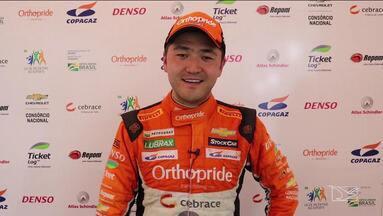 Rafael Suzuki garante o 7º lugar na etapa de Cascavél do Brasileiro da Stock Car - Maranhense sobe três posições na classificação geral e agora está em 20º entre os 32 da competição.