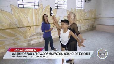 Bailarinos de Taubaté e Guaratinguetá são aprovados para escola Bolshoi - Escola é a principal do país e fica em Joinville.