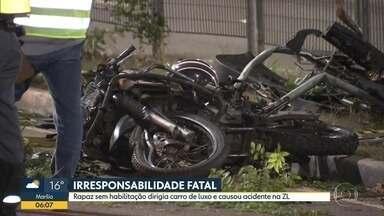 Acidente envolvendo três carros e uma moto deixa uma pessoa morta na capital - Caso aconteceu na Zona Leste de São Paulo no final da noite desta terça-feira.