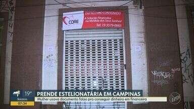 Estelionatária é presa em Campinas acusada de aplicar golpes de até R$ 500 mil - A mulher fazia empréstimos consignados em nome de funcionários públicos de Itu (SP).