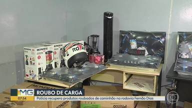 PM prende suspeito de integrar quadrilha especializada em roubo de carga na Grande BH - Produtos eletrônicos foram apreendidos em Belo Horizonte.
