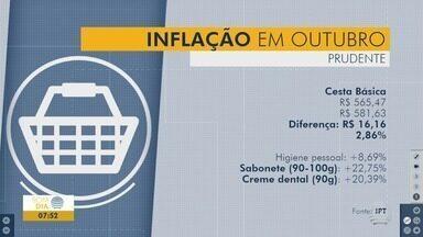 Pesquisa indica aumento de quase 3% no valor da cesta básica - Levantamento é feito em supermercados de Presidente Prudente.