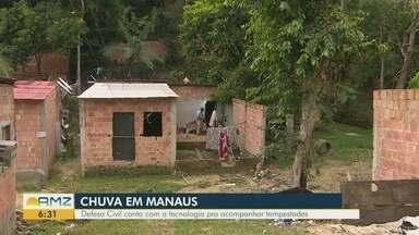 Defesa Civil realiza mapeamento de áreas de risco em Manaus - Tecnologia auxilia no acompanhamento de tempestades.