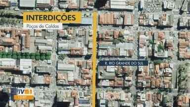 Ruas são interditadas para obras no Sul de Minas - Ruas são interditadas para obras no Sul de Minas