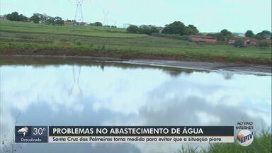 Racionamento de água em Santa Cruz das Palmeiras sofre alteração - Após receberem a água por 12 horas, moradores ficarão 36 horas sem abastecimento.