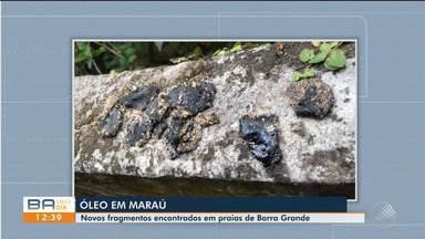 Novas manchas de óleo são encontradas em praias de Barra Grande, distrito Maraú - As praias de Bombaça e Três Conqueiros foram contaminadas com manchas maiores do que as que apareceram na segunda-feira (21).