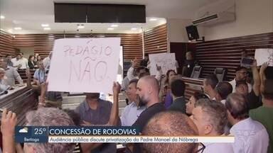 Privatização da Rodovia Padre Manoel da Nóbrega gera polêmica durante audiência pública - Caso aconteceu durante audiência realizada em Itanhaém, SP.