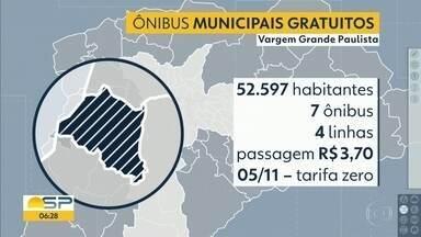 Vargem Grande Paulista terá gratuidade nas passagens para ônibus municipais - É a primeira cidade da região metropolitana a adotar essa medida.