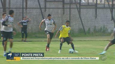 Ponte Preta terá força máxima pela primeira vez sob o comando de Gilson Kleina - Clube estacionou no meio da tabela e vê chance de acesso cada vez menor.