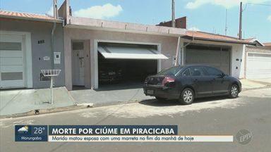 Homem é preso após matar mulher a marretadas em Piracicaba - Segundo a polícia militar, casal era casado há seis anos e tinham dois filhos.